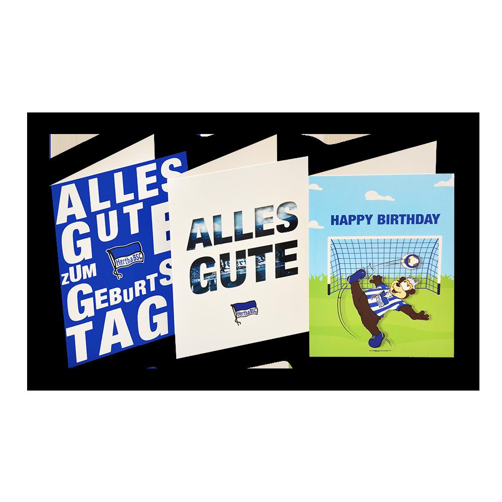 Hertha BSC Berlin Karte Glückwun Geburtstagskarte Alles Gute zum Geburtstag